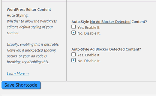 disable-auto-styling