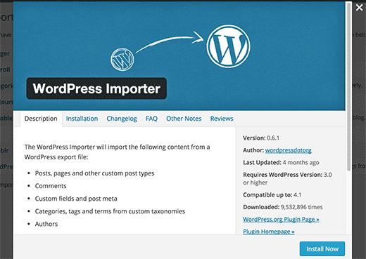 install-wp-importer