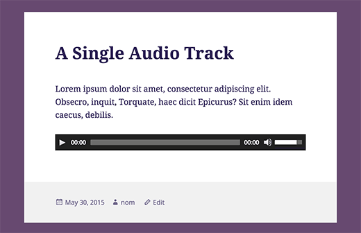 single-audio-track