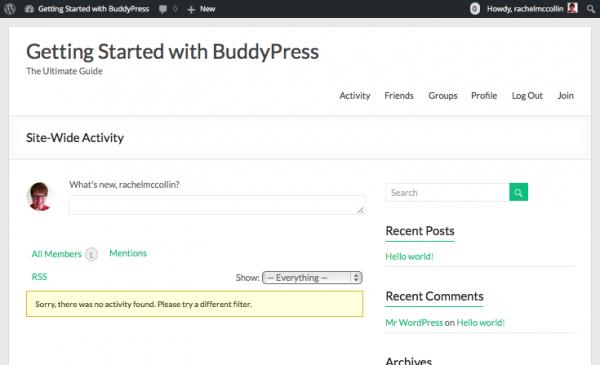 buddypress-frontend-no-content