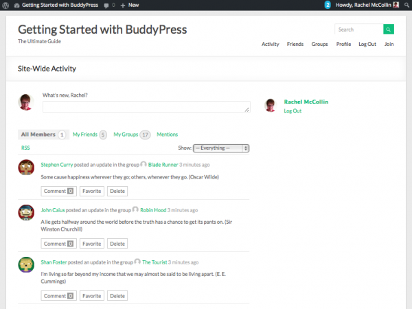 buddypress-site-with-test-data