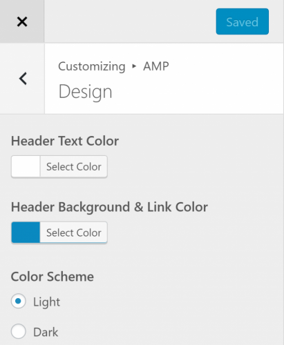 wordpress-amp-customize-appearance