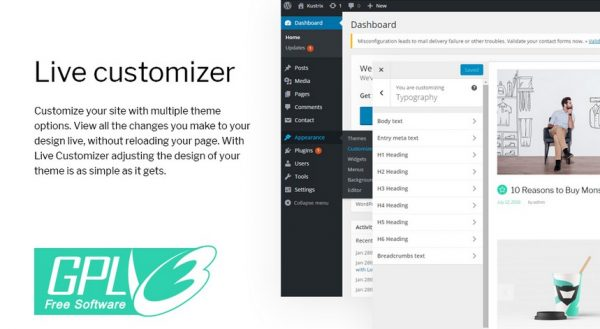 Monstroid 2 Live Customizer