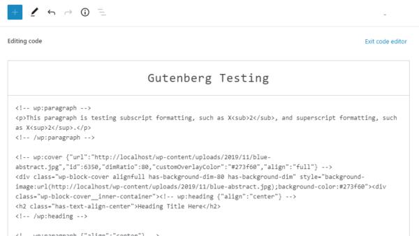 Вышел Gutenberg 8.0: объединена вставка блоков и паттернов, обновлен редактор кода