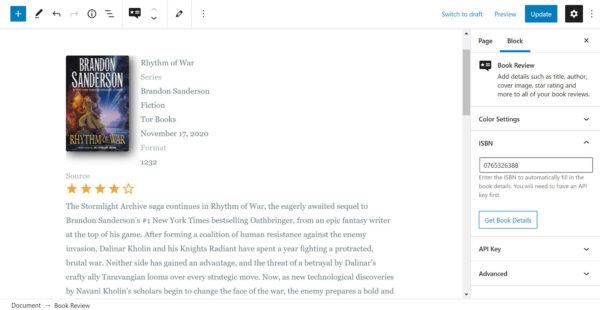 Book Review Block: WordPress-плагин для создания стильных книжных рецензий