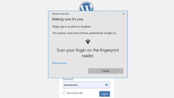 Passwordless WP: плагин для входа в WordPress с помощью Touch ID или Face ID
